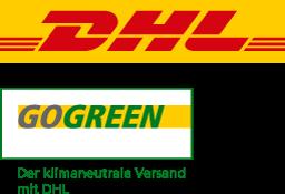 Versand durch DHL Go Green