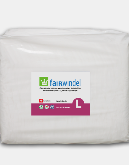 Fairwindel Gr. L vegane ökowindel kompostierbar