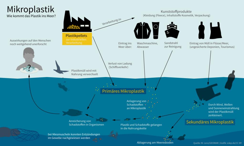 Mikroplastik gefährlich im Meer