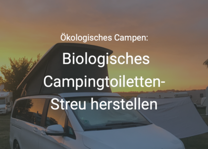 biologisch Campingtoilette Streu